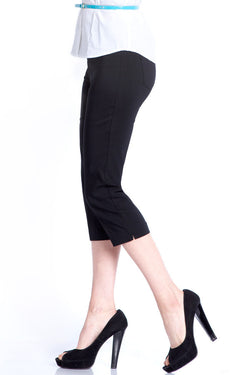 PLUS CAPRI PANT - BLACK