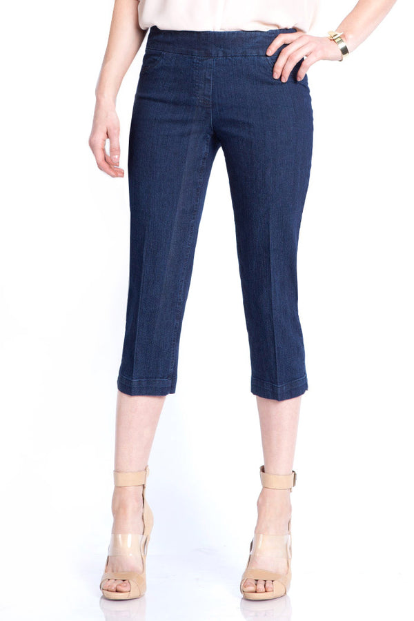 PLUS CAPRI PANT - DENIM