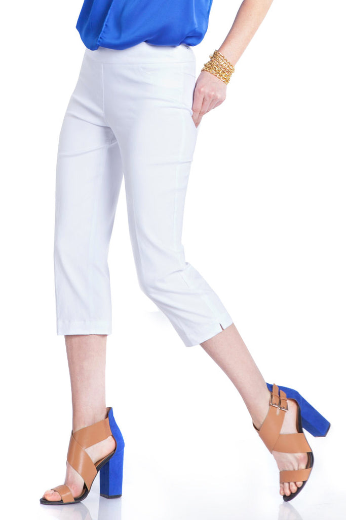 PLUS CAPRI PANT - WHITE
