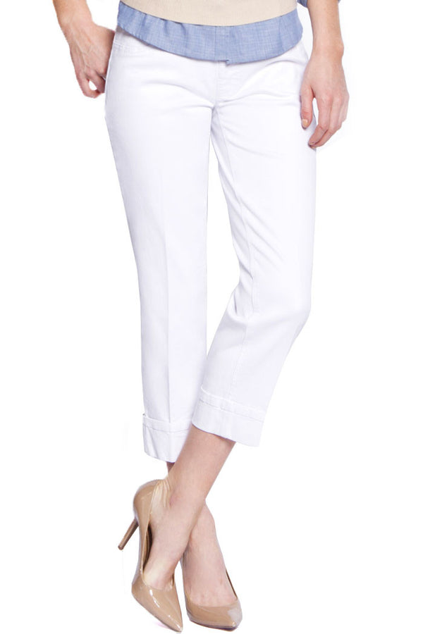 BOYFRIEND CROP JEANS - WHITE