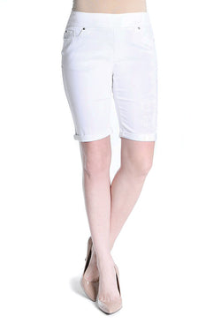 ROLL CUFF WALKING SHORT - WHITE