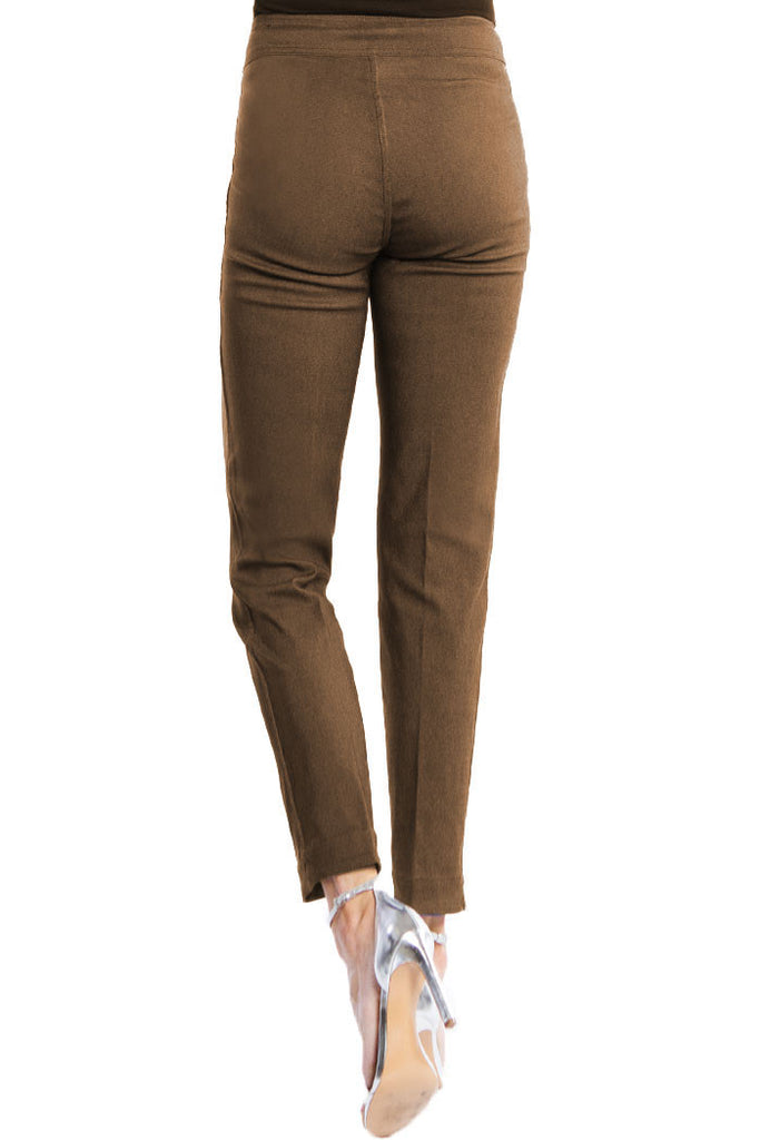 WOMEN'S REVERSIBLE SOLID KNIT ANKLE PANT