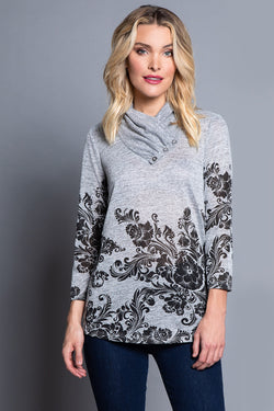 Shaped Hem Knit Top