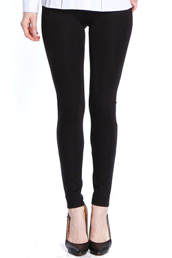 PONTI KNIT LEGGING - BLACK