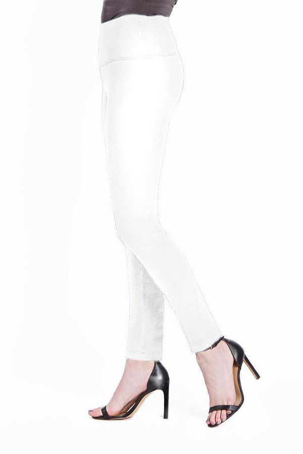 SOLID FRENCH TERRY LEGGING - WHITE