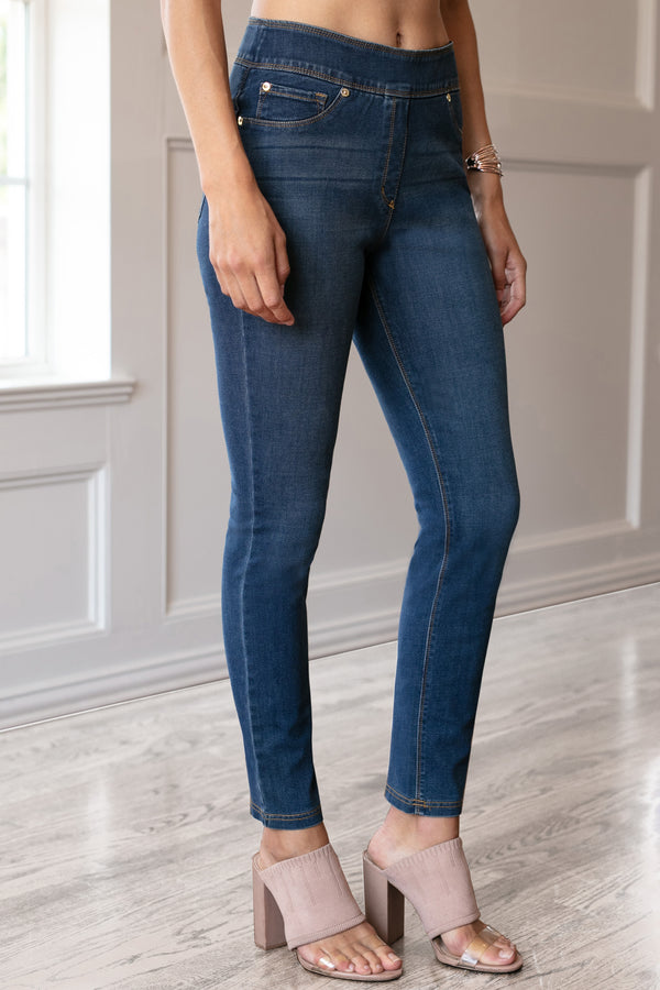 Ultra by Slimsation - Ankle Jean in Medium Indigo