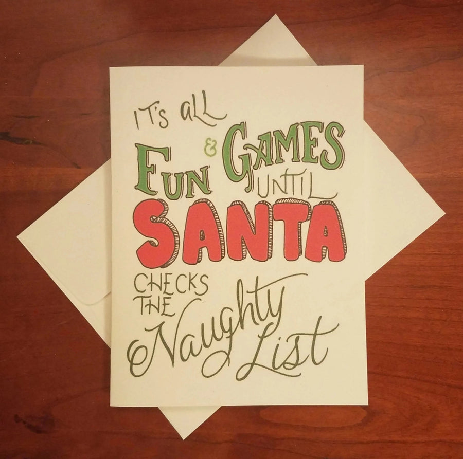 Naughty List Holiday Card