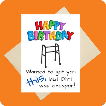 Dirt was cheaper! Card