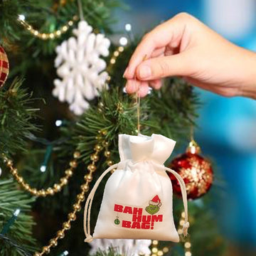 Bah Hum Bag Ornament