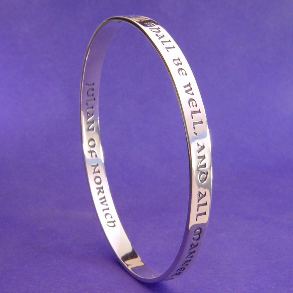 All Shall Be Well (Julian of Norwich) Bangle Bracelet