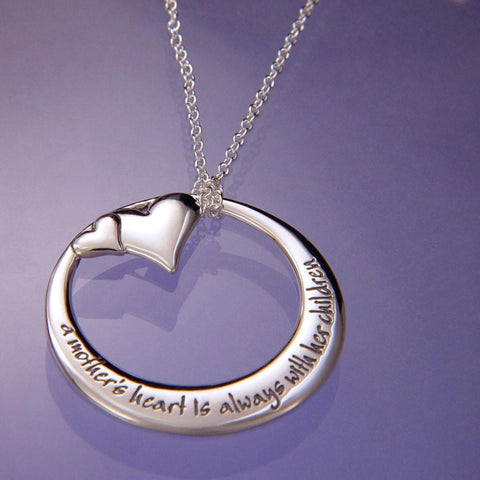 A Mother's Heart Is Always With Her Children - Necklace
