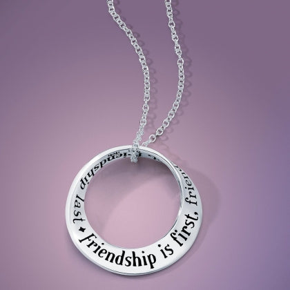 Friendship Is First (Thoreau) - Mobius Necklace