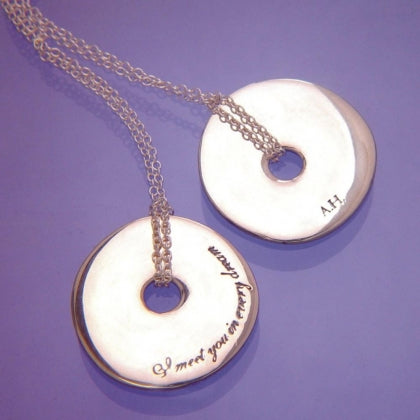 I Meet You In Every Dream (Alexander Hamilton) - Pi Disc Necklace