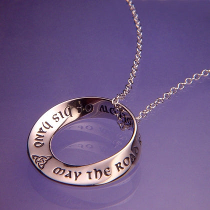The Irish Prayer (May the Road Rise to Meet you) - Mobius Necklace