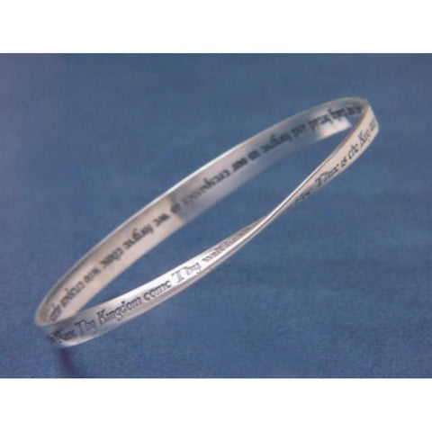 Lord's Prayer King James Version - Mobius Bracelet