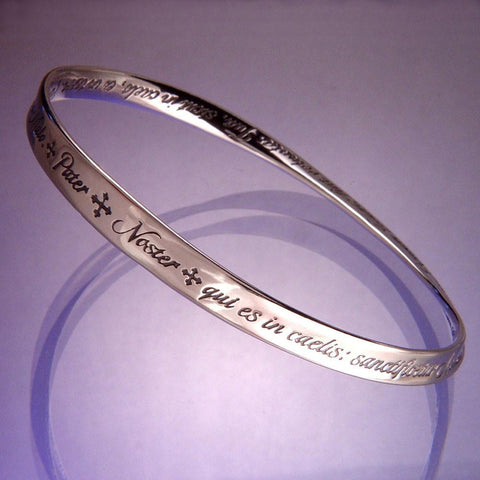 Lord's Prayer in Latin (Pater Noster) - Mobius Bracelet