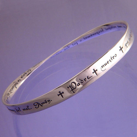 Lord's Prayer in Spanish (Padre Nuestro) - Mobius Bracelet
