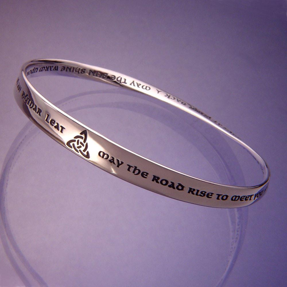 The Irish Prayer (May the Road Rise to Meet You) Mobius Bracelet
