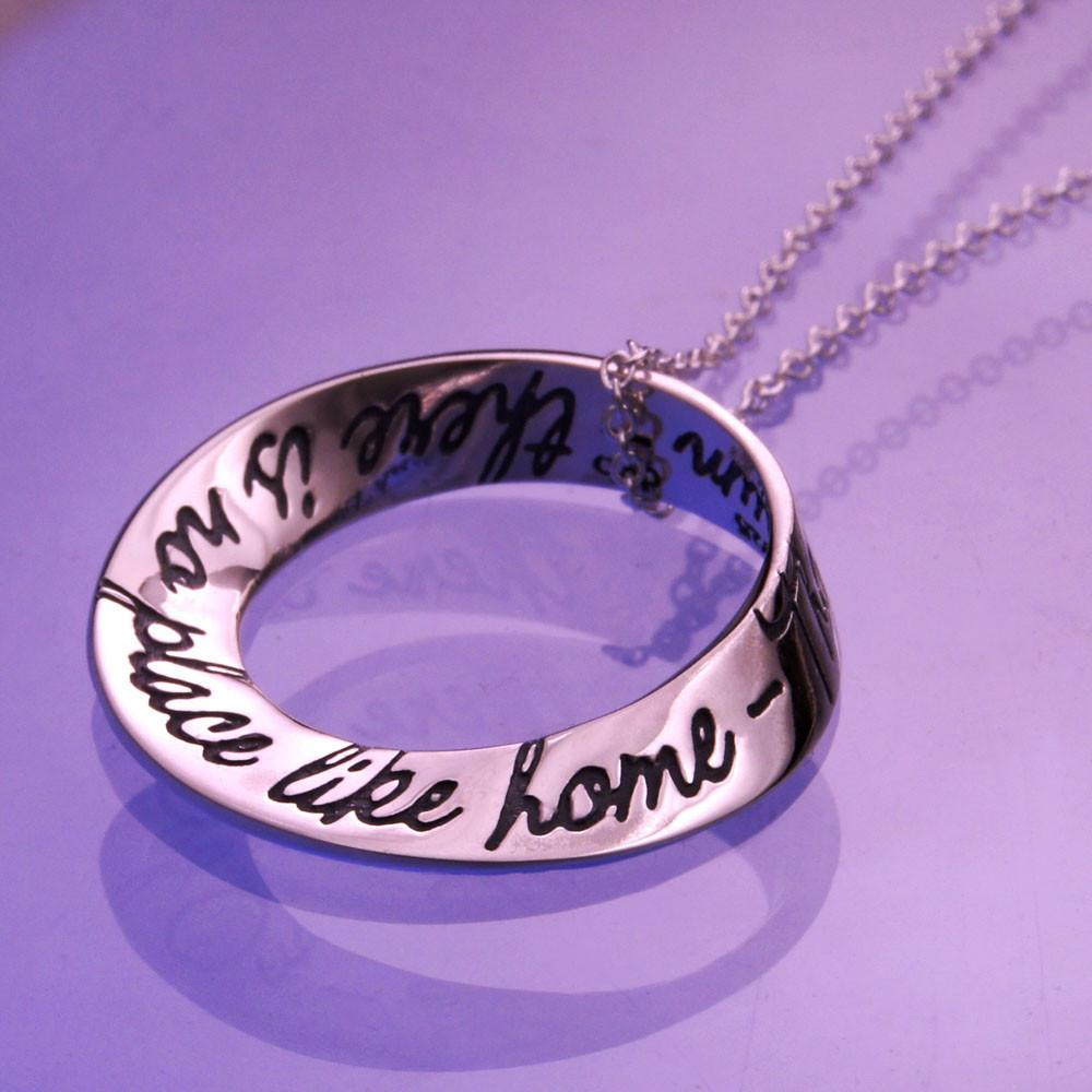 No Place Like Home (Wizard of Oz) Mobius Necklace
