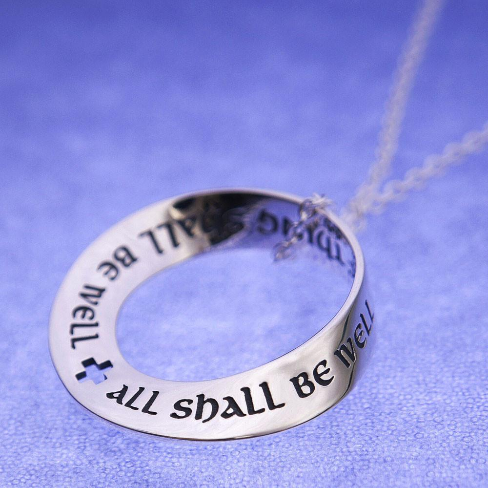 All Shall Be Well (Julian of Norwich) Mobius Necklace
