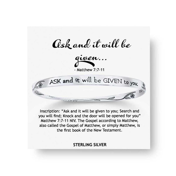 Ask and It Will Be Given to You (Matthew 7:7-11) - Mobius Bracelet