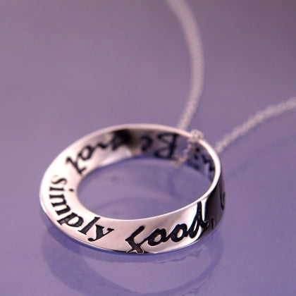Be Not Simply Good (Thoreau's Advice) - Mobius Necklace