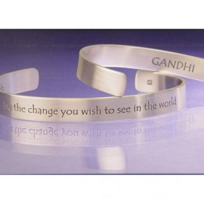 Be the Change You Want to See - Gandhi Cuff Bracelet