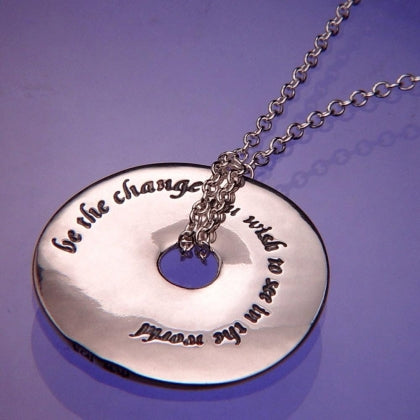 Be The Change (Gandhi) - Pi Disc Necklace