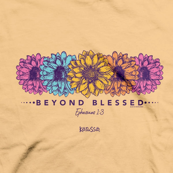 Beyond Blessed (Luke 1:45) - Women's Daisies T-shirt