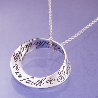 Breathe Deeply in Faith Mobius Necklace