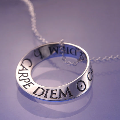 Carpe Diem - Seize the Day (Horace) - Mobius Necklace