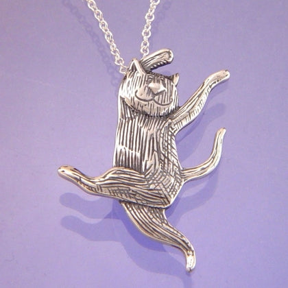 Dancing Cat (Edward Gorey) Necklace