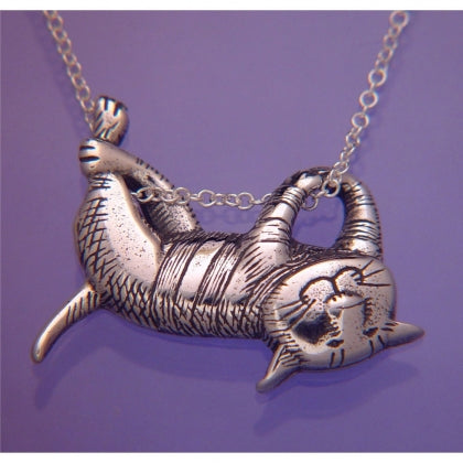 Dangling Cat (Edward Gorey) Necklace