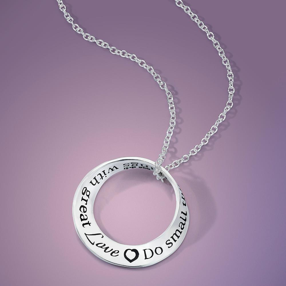 Do Small Things with Great Love (Mother Teresa) Mobius Necklace