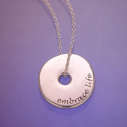 Embrace Life - Pi Disc Necklace