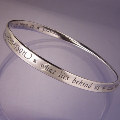 What Lies Within Us (Emerson) Mobius Bracelet