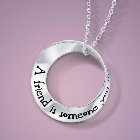 A Friend Is Someone You Share the Path With - Mobius Necklace