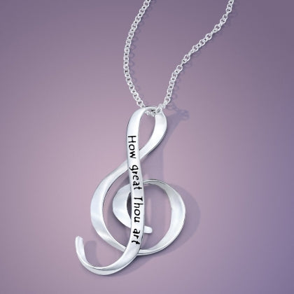How Great Thou Art - G Clef Necklace