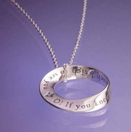 If You Knew How Much I Sigh to See You - Mobius Necklace