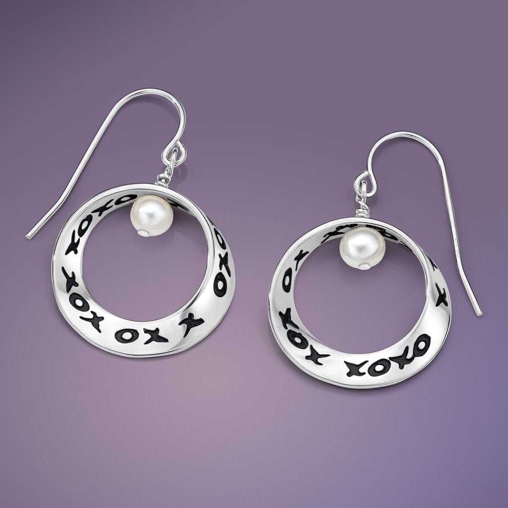 Hugs and Kisses Mobius Earrings
