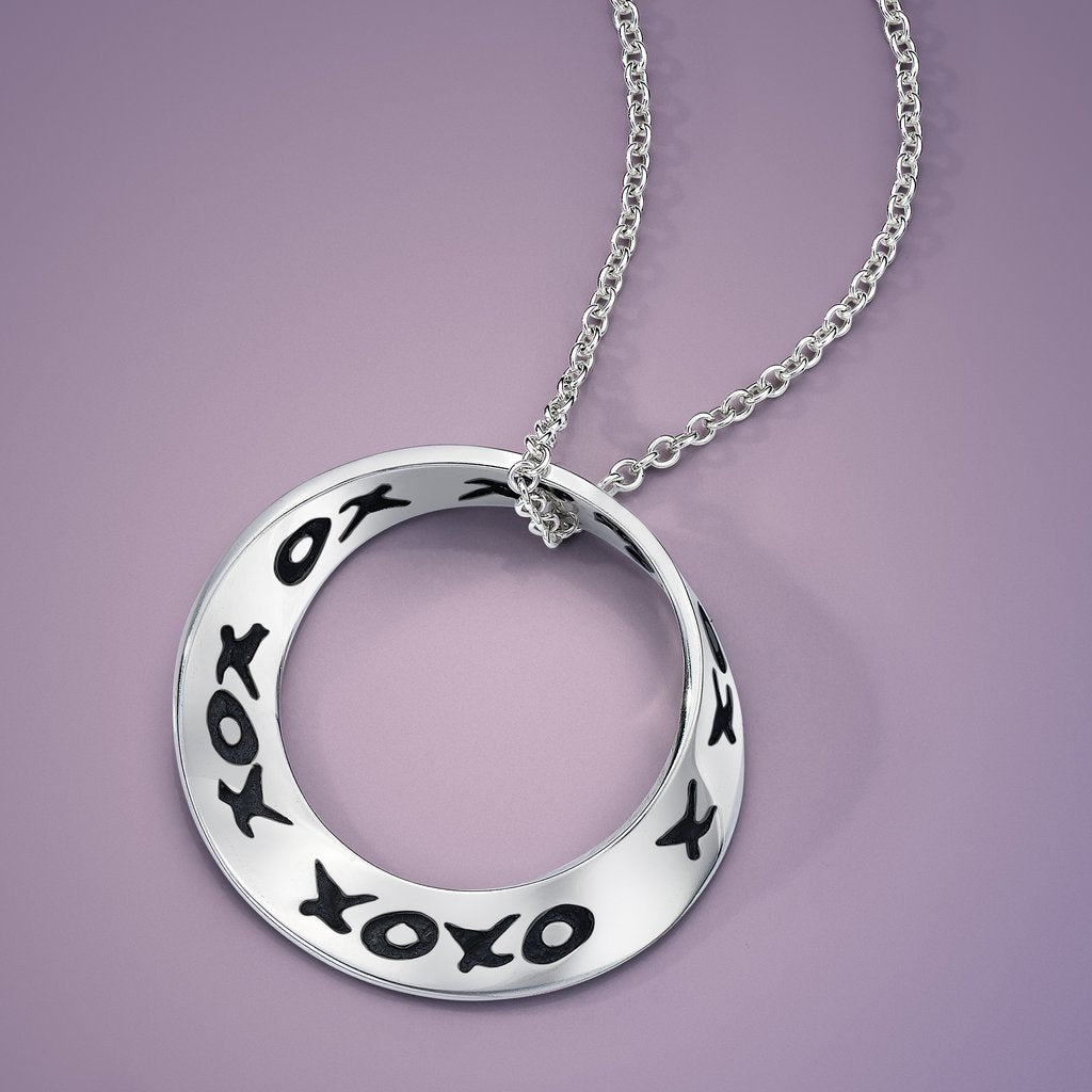 Hugs and Kisses Mobius Necklace