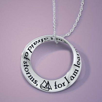 I Am Not Afraid of Storms (Louisa May Alcott) - Mobius Necklace