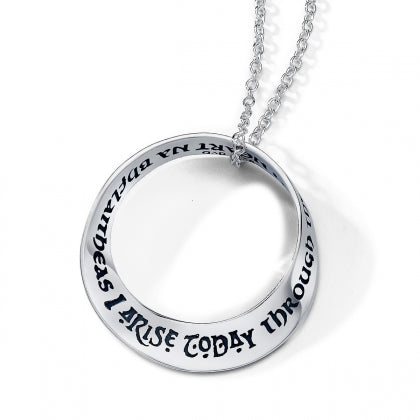 I Arise Today Through the Strength of Heaven (St Patrick) Mobius Necklace