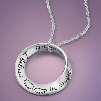 I Believe in Angels - Mobius Necklace