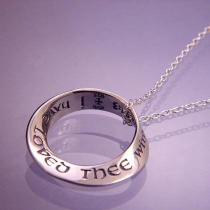 I Have Loved Thee with An Everlasting Love (Jeremiah) - Mobius Necklace