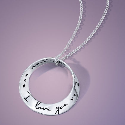 I Love You More - Mobius Necklace