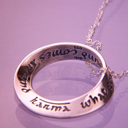 "Karma ""What Goes Around Comes Around"" Mobius Necklace"