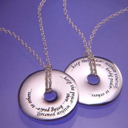 Keep the Peace Within - Pi Disc Necklace