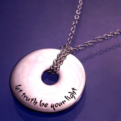Let Truth Be Your Light - Pi Disc Necklace