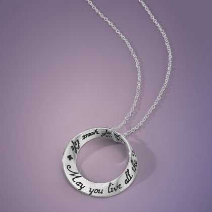 May You Live All the Days of Your Life (Swift) - Mobius Necklace